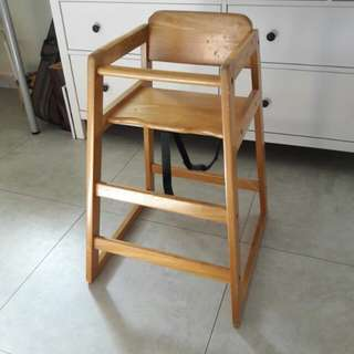 Baby high chair (wooden)