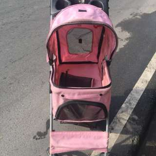pink stroller for your pets