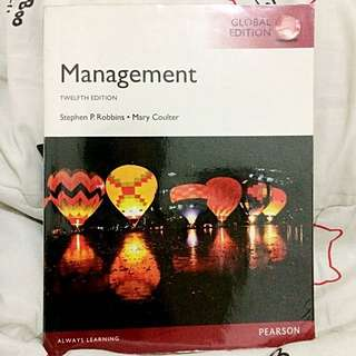 MANAGEMENT, PEARSON, 12e, Global Edition