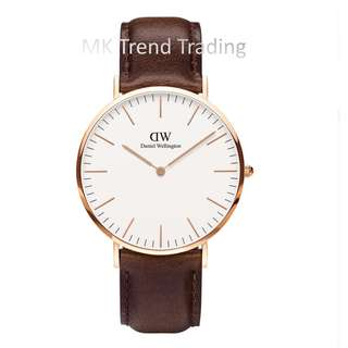[AUTHENTIC] DANIEL WELLINGTON CLASSIC BRISTOL 36MM Gold [2 YEARS WARRANTY]