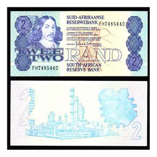 SOUTH AFRICA 2 RAND 1981-83 NOTE UNC