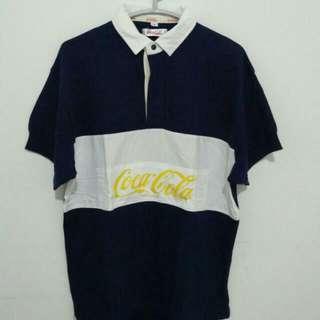 Coca Cola Vintage Ukuran Panjang 67 Lebar 52 Kondisi 85% Warna Biru Tua