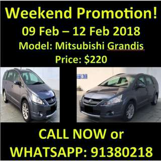 Mitsubishi Grandis Weekend 9-12Feb