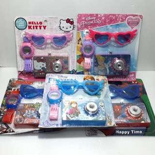 Jam Tangan Anak Paket Kamera Dan Kacamata