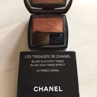 Blush duo tweed effect chanel 20 tweed corail