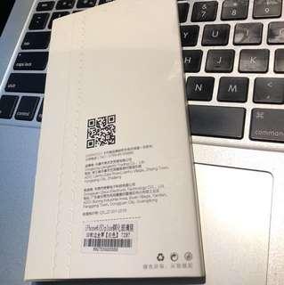 Ip6+ 鋼化玻璃膜 白邊 全新 iphone6plus