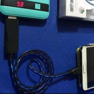 流光閃動 充電線(micro usb or iphone 4插頭)