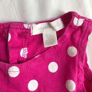 Polka dot dress 0-3 months