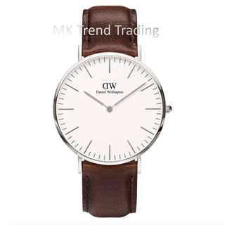 [AUTHENTIC] DANIEL WELLINGTON CLASSIC BRISTOL 36MM Silver [2 YEARS WARRANTY]