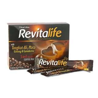 Revitalife Instant 3-In-1 Coffee with Tongkat-Ali, Maca, Ginseng & Ganoderma