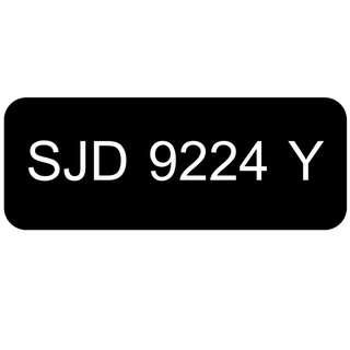 Car Number Plate for Sale: SJD 9224 Y