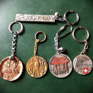 Assorted  Foreign Key Chains