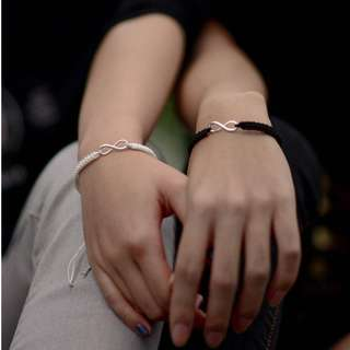 Hand-woven Couple Infinity Bracelet