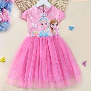 CNY girl cheongsam, elsa dress