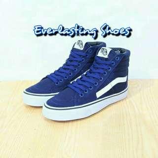 Sepatu Vans SK 8 Navy Premium Quality Grade ORI Skool School  Sneakers