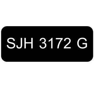 Car Number Plate for Sale: SJH 3172 G