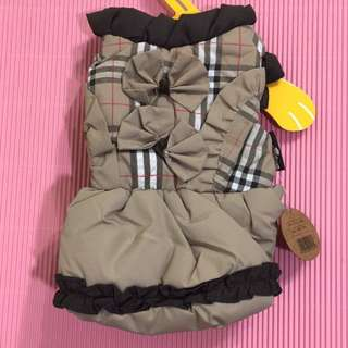 寵物蘇格蘭造型保暖防風外套