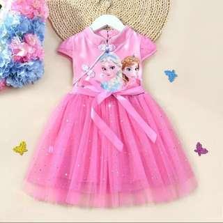 Girls CNY dress, elsa