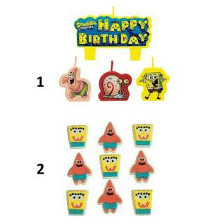 (Pre-Order)  Licensed SpongeBob Birthday Party Candles / Cake Icing
