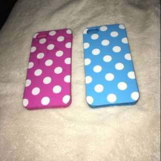 2 iPhone cases for iPhone 5/5s/s4 their in perfect condition. Never been used. Willing to change the price