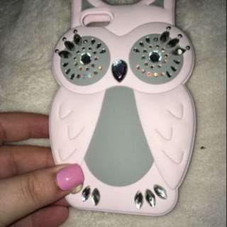 Owl iPhone case in white and mint green. It's for iPhone 5/5s/se willing to change the price.