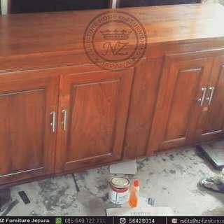 Kitchen Set Gantung Minimalis Jati