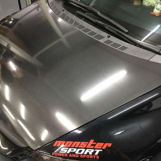 Civic fd carbon bonnet wrap