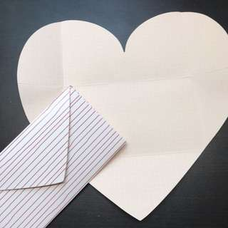 2 Hearts Letter Set   Valentine's Day Card