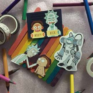 Rick & Morty Sticker Decals Set