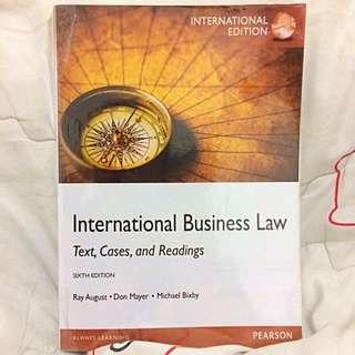 INTERNATIONAL BUSINESS LAW, 6e, PEARSON, International Edition, Hukum Bisnis Internasional