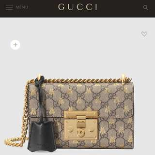 ⭐️情人節精選⭐️全新Gucci Padlock small GG bees shoulder bag👍🏻