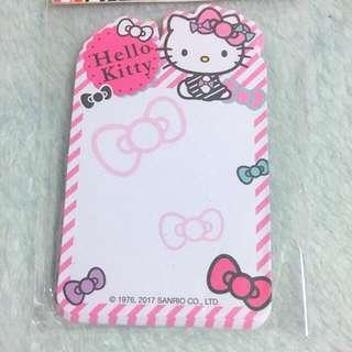 Hello Kitty Memo Note Pad 50 Sheets