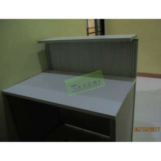 CUSTOMIZE TABLE WITH CENTER DRAWER AND RECEPTION DESK--KHOMI