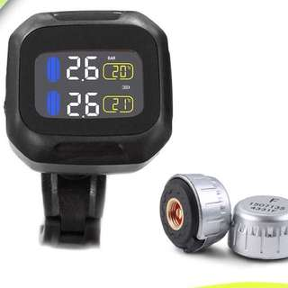 Motorcycle Wireless Colour Display TPMS with External Sensors