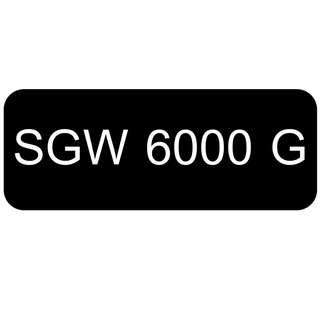 Car Number Plate for Sale: SGW 6000 G