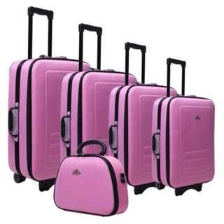 Trolley Travel Bag Luggage Set PINK