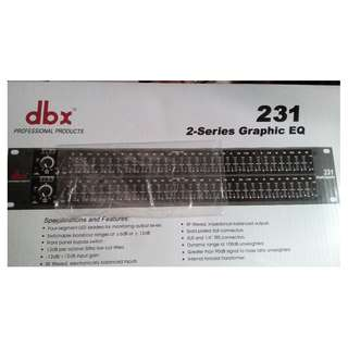 Brand New dbx 231 Professional 2-Series Graphic Equalizer For Sale