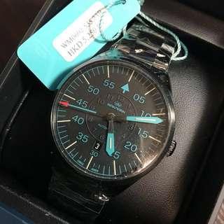 全新 Wakmann 鋼手錶 價值HKD 5250