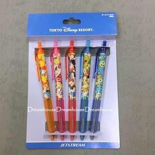 東京迪士尼 日本製 維尼 愛麗絲 白雪公主 彼得潘 毛怪大眼仔 0.5mm 水性黑色 原子筆 黑筆 文具