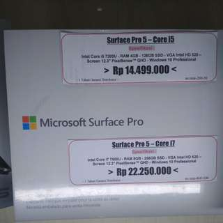 Surface pro 5 - core i5