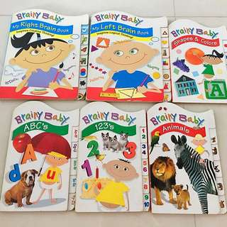 Brainy Baby Book Lot (6 Board Books)