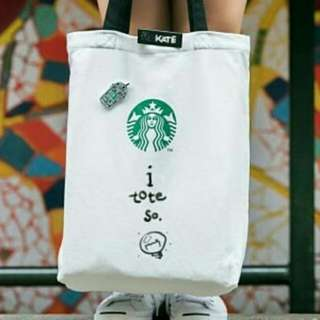 Starbucks Tote Bag Singapore Do It Your Own Free 3 Pins, Marker and Name Tag