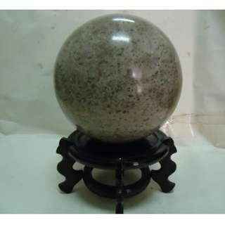 天地 藝品 ( 有球 必應 ) 天然 罕見 漂亮 超 大顆 ( 貝殼 化石 ) 能量 招財 球 K201 珍藏 品 割愛 !