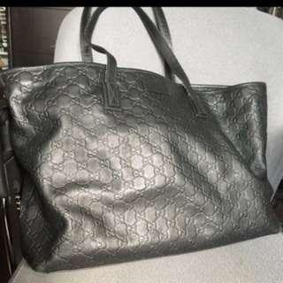 100% Real Gucci真皮壓紋Tote Bag