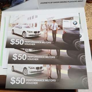 Performance motors BMW vouchers $150