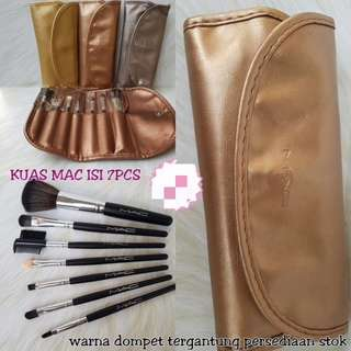 DOMPET MAC BRUSH ISI 7 (MAKE UP BRUSH KIT SET)