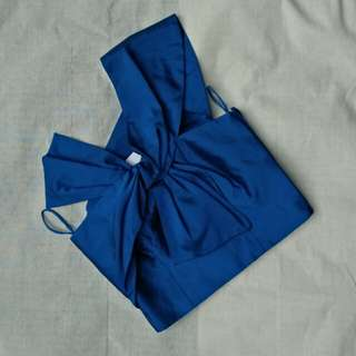 Elect Blue Crop Top