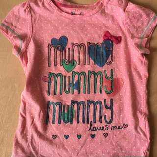 PL Mothercare tshirt 12-18 months