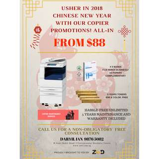 Fuji Xerox Copier Chinese New Year Promo