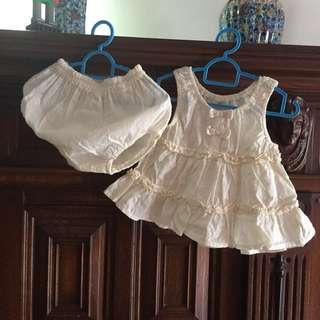 Baby Girl Dress set 2 pieces 100 % cotton, good quality